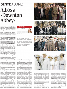 Adiós a Downton Abbey